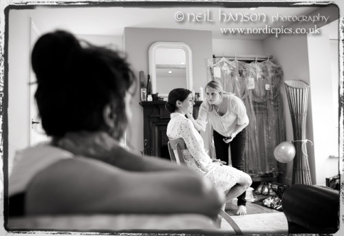 Brides preparations before her Wedding Day at Bisham Abbey in Berkshire by Neil Hanson Photography