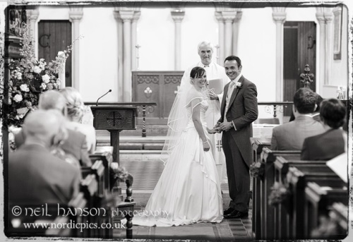 Wedding Ceremony at St Mary's Chhurch Hurley by Neil Hanson Photography