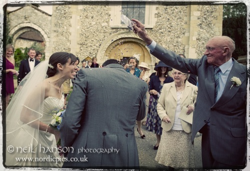 Wedding day Confetti at Bisham Abbey by Wedding Photographer Neil Hanson
