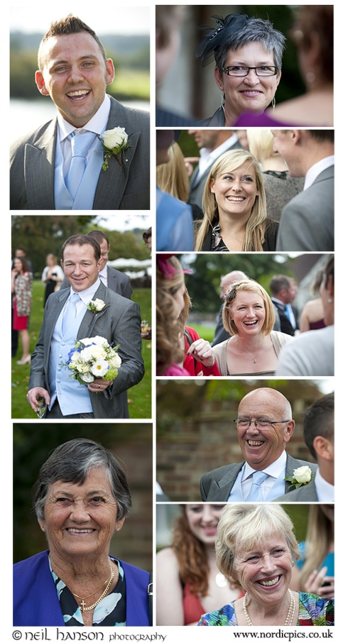 Guests enjoying a Wedding at Bisham Abbey by Neil Hanson Photography