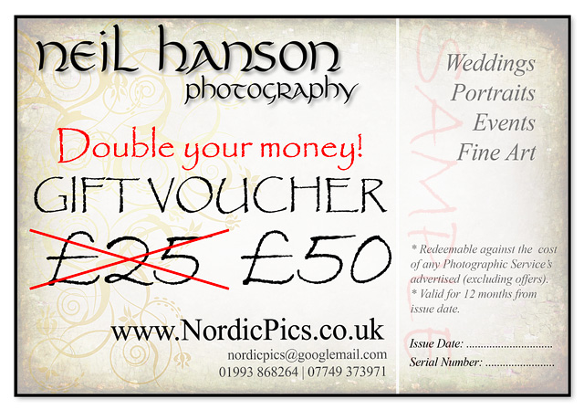 Unusual Wedding Gift Vouchers : Last minute Christmas Gift IdeasPhotography GIFT Vouchers by Neil ...