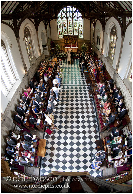 View of St John's College chapel from the organ loft