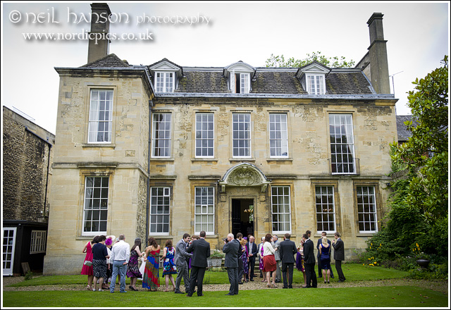 wedding reception at St John's House, Oxford