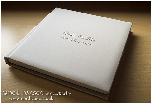 Contemporary reportage Wedding Albums by Neil Hanson Photography at Caswell House Oxfordshire