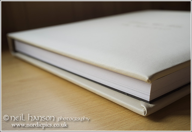 Contemporary Antique White real Leather Wedding Album