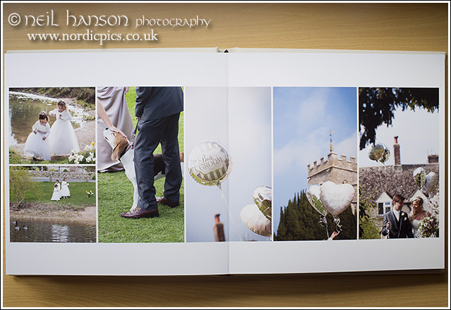 Caswell House Wedding Albums by recommended supplier neil hanson photography