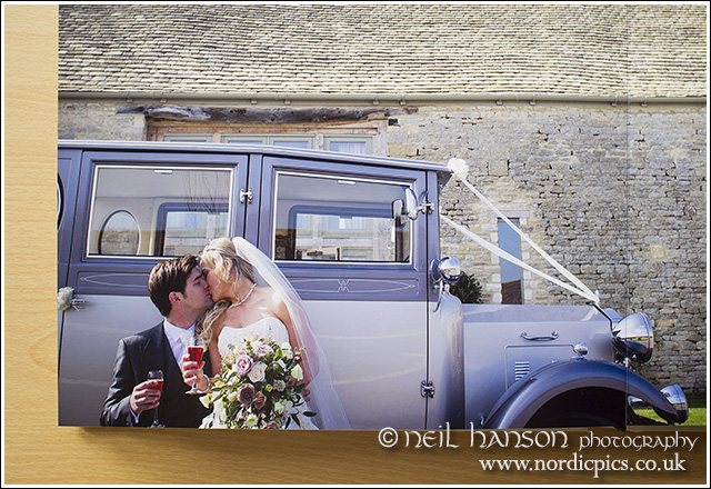 Unique, quality wedding albums with Bespoke design provided fro Caswell House by Neil Hanson Photography