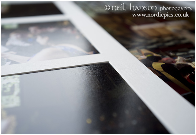 Traditional matted wedding albums by neil hanson photography